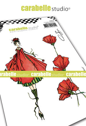 "NEW! Carabelle Studio - ""Cling Stamp A6 : ""La fée Coquelicot"" by Soizic - PRE-ORDER"