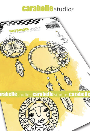 "NEW! Carabelle Studio - ""Cling Stamp A6 : ""Boho Dreams"" by Kate Crane - PRE-ORDER"