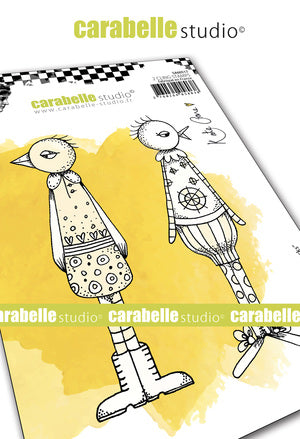 "NEW! Carabelle Studio - ""Cling Stamp A6 : ""Funky Ducks"" by Kate Crane - PRE-ORDER"