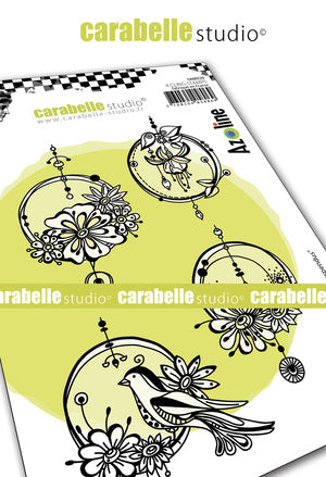 "NEW! Carabelle Studio - ""Cling Stamp A6 :  ""Cercles Suspendus by Azoline"" by Azoline - PRE-ORDER"