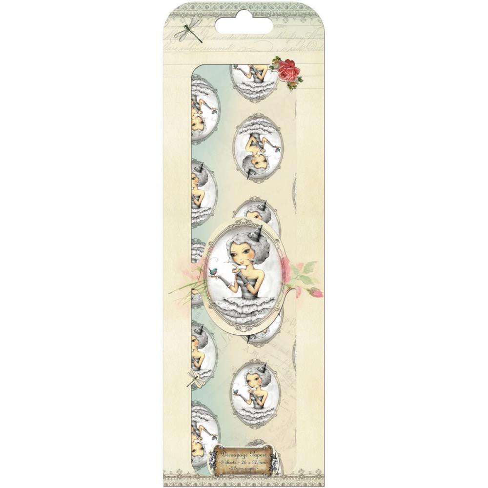 santoro tell me something cameo decoupage