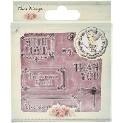 Santoro Mirabelle Clear Stamp - Sentiment