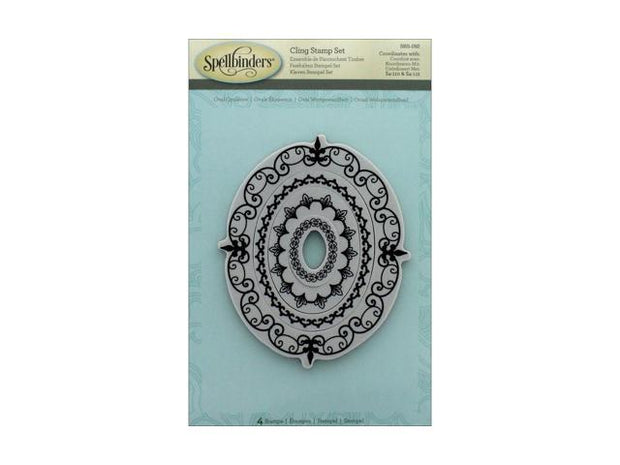 Spellbinders - Oval Opulence- Cling Stamp Set