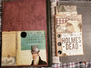 Sherlock Holmes Theme - Journal Etc. - Altered Book - Black - HUGE