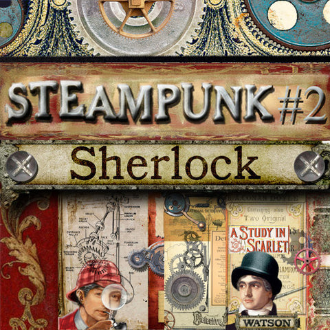 Steampunk Sherlock Digital Pack #2