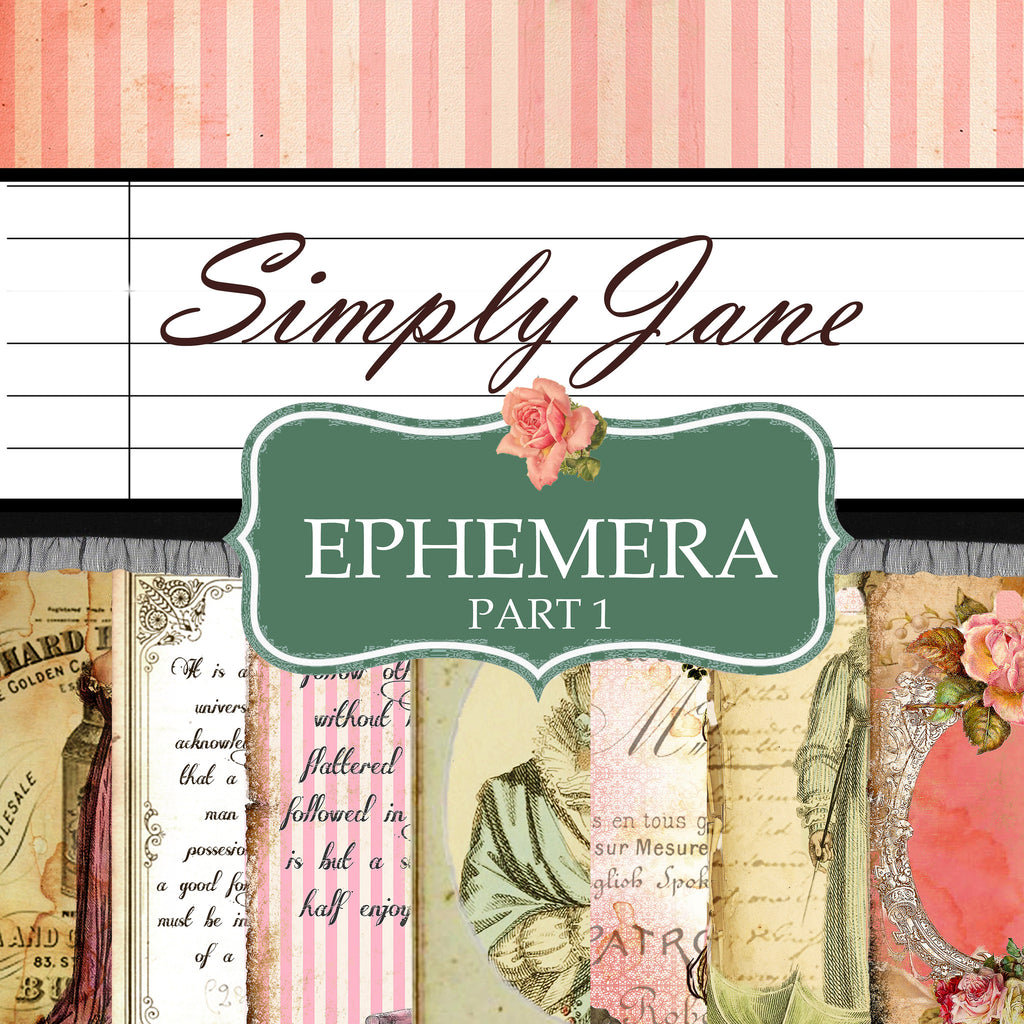 Simply Jane - Digital Paper Ephemera Collection - PART 1