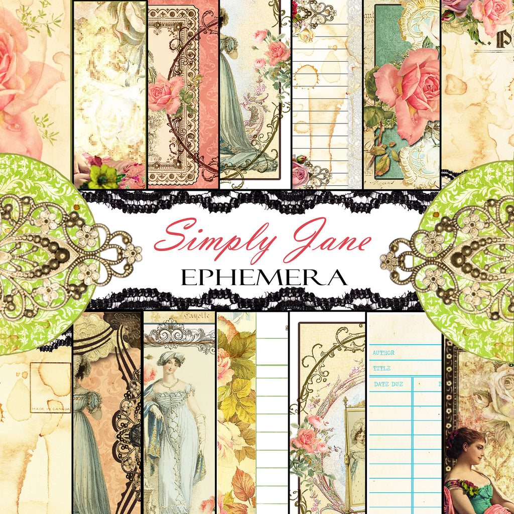 Simply Jane - Digital Paper Ephemera Collection