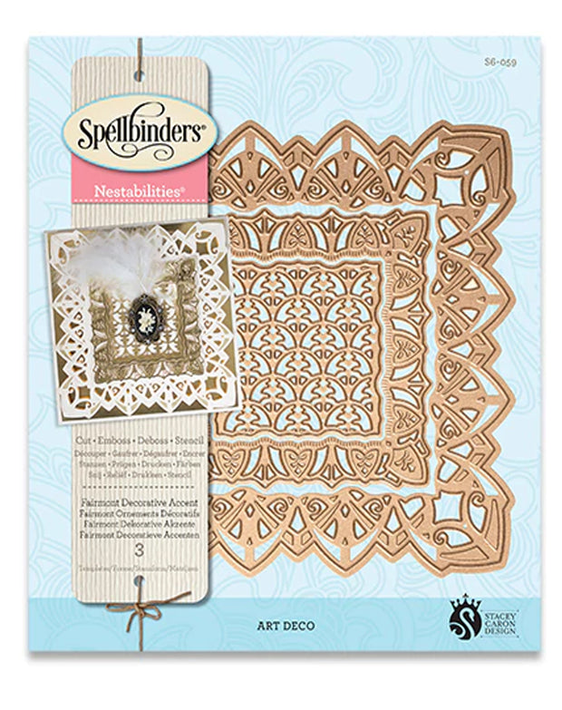Spellbinders Nestabilities - Fairmont Decorative Accent Dies