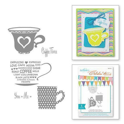 Spellbinders Cup For Two Stamp Set