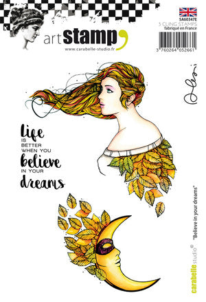 "Carabelle Studio - Cling Stamp A6 : ""Believe in your dreams by Alexi"" - NEW!"