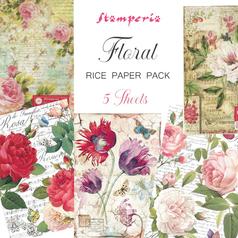Stamperia Floral Rice Paper Pack - NEW