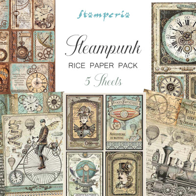 Stamperia Steampunk Rice Paper Pack - NEW