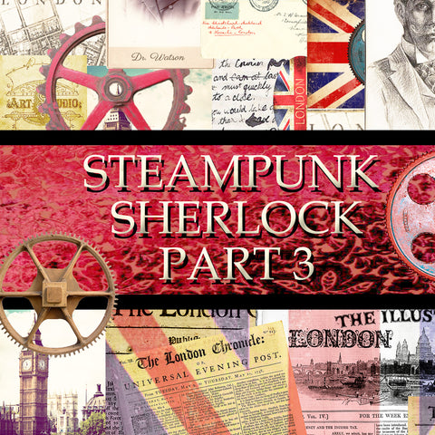 Steampunk Sherlock Digital Pack #3