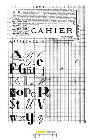 "Carabelle Studio Cling Stamp XXL A4 - ""Cahier"" - BACK IN STOCK"