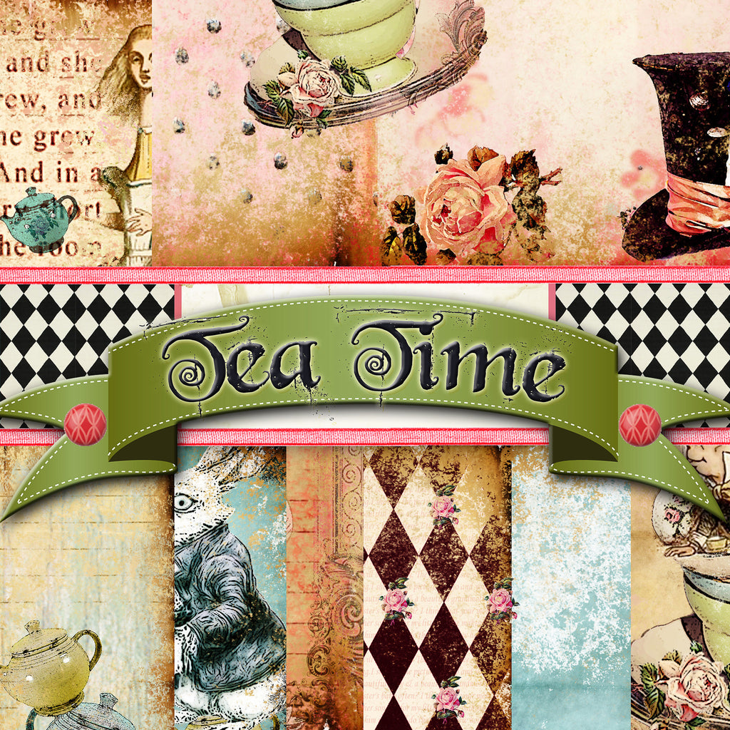 Tea Time - Digital Paper Pack
