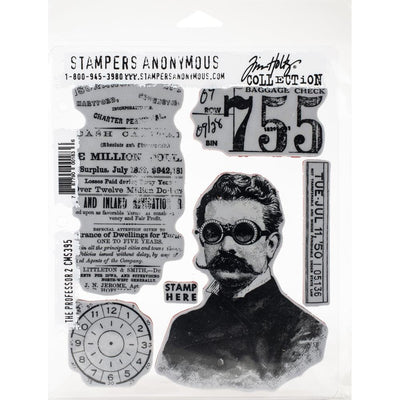 Tim Holtz - Stampers Anonymous - The Professor 2 - STAMP SET