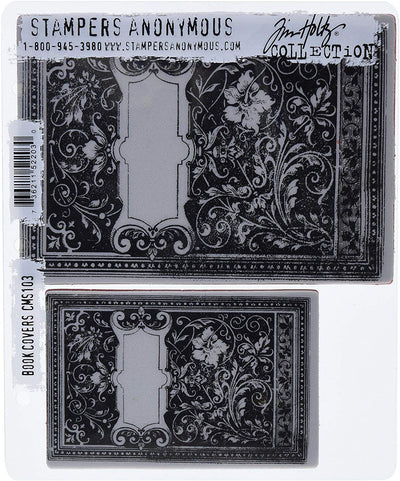 STAMPERS ANONYMOUS - TIM HOLTZ - BOOKCOVERS - STAMP SET