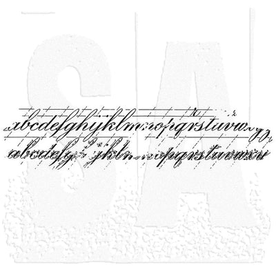 Tim Holtz Wood Mounted Stamp - Faded Type 2