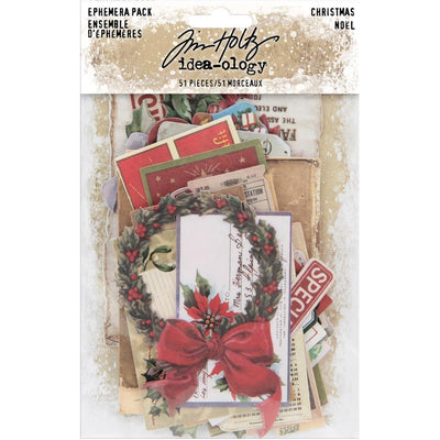 Tim Holtz - Idea-ology Ephemera Pack - Christmas Noel - Die-Cuts/Christmas - NEW!