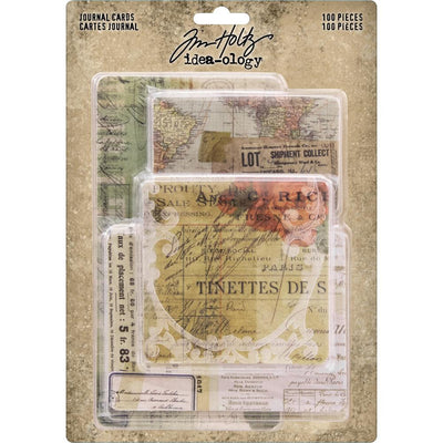 Idea-Ology Journal Cards 100/Pkg - Tim Holtz