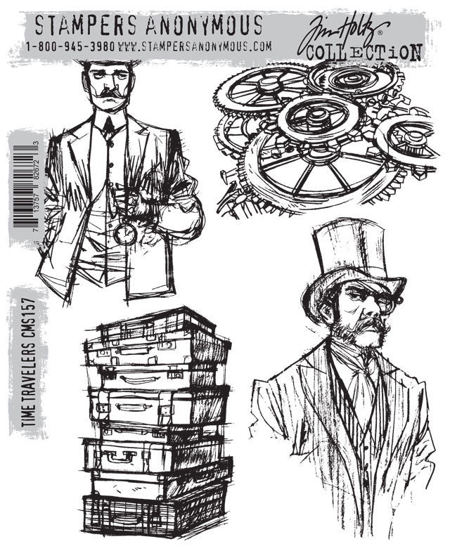 Time Travelers - Tim Holtz - Cling Rubber Stamp Set