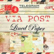Via Post Lined Journal Paper Pack - Digital - 10 Designs