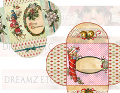 Vintage Christmas Charm - Digital Bundle Pack - Digital Journal Kit