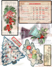 Vintage Christmas EZ-CUTZ - Digital Die Cuts - Bundle Pack