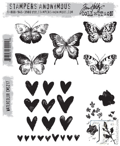 STAMPERS ANONYMOUS - TIM HOLTZ - WATERCOLOR - STAMP SET