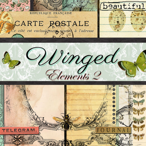 Winged Elements 2 - Digital Journal Kit/Paper Pack
