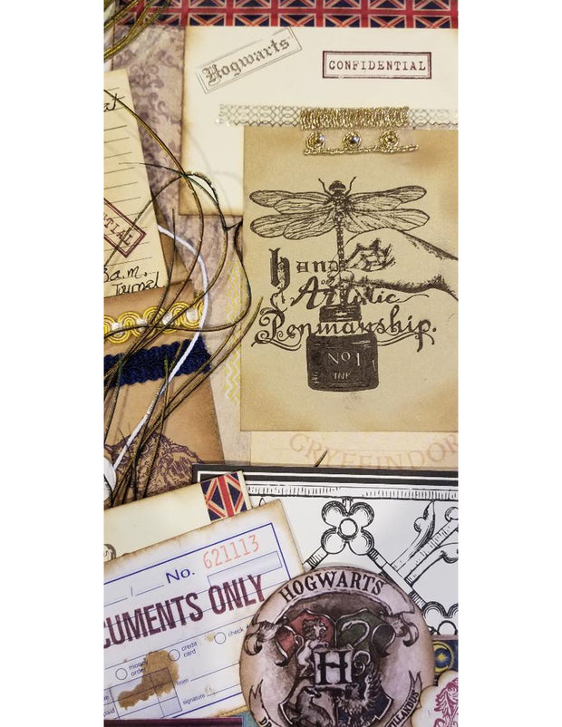 "Carabelle Studio Cling Stamp A6 - ""Artistic Penmanship"" - Jen Bishop - NEW"
