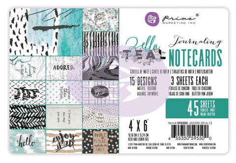 Zella Teal - 4x6 Journaling Cards