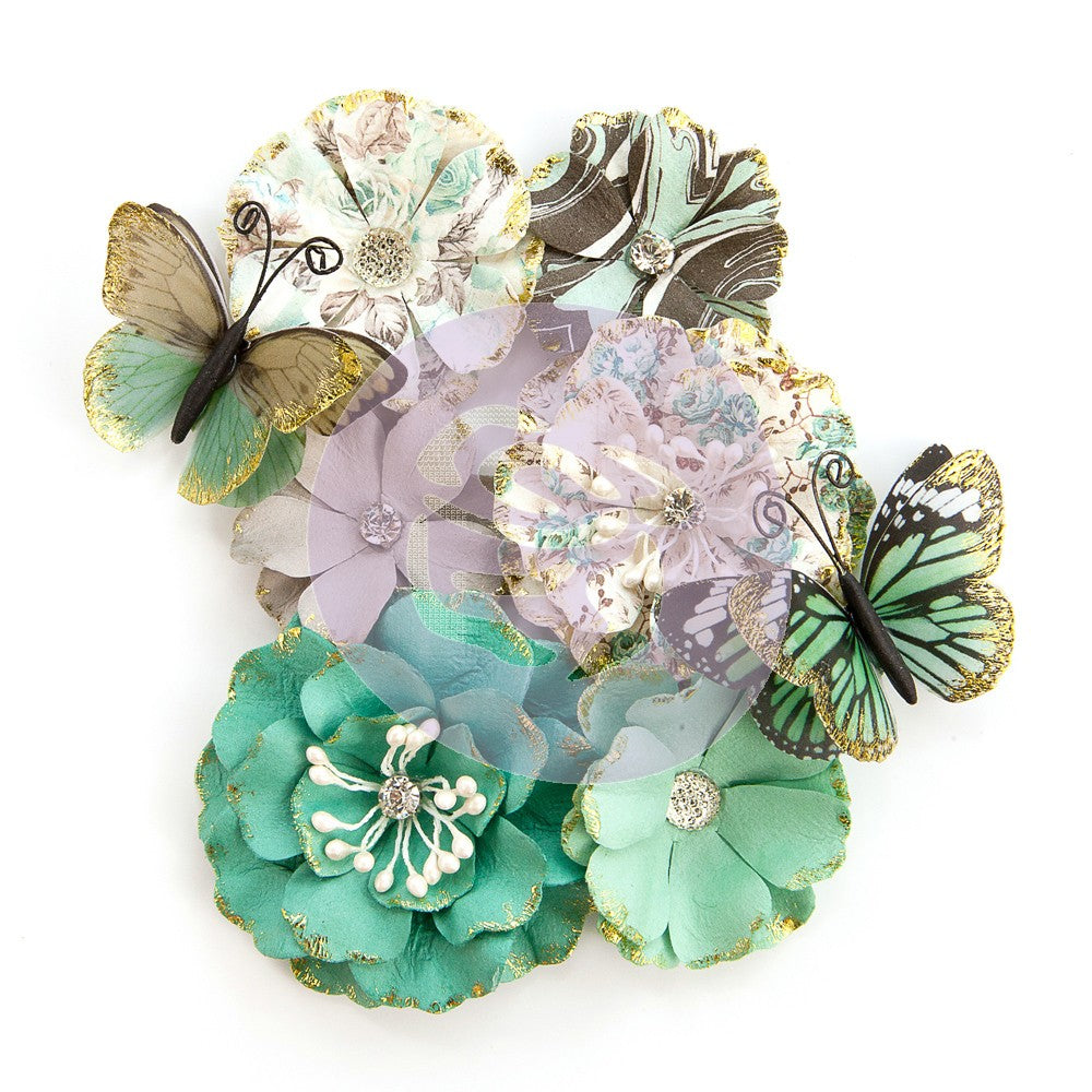 "Zella Teal- Flowers ""Butterfly Kisses"""