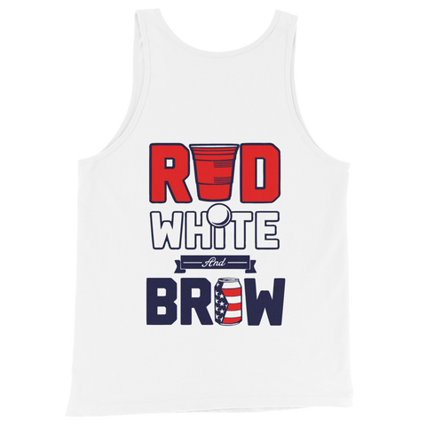 Red, White & Brew Tank Top (Design On Back)