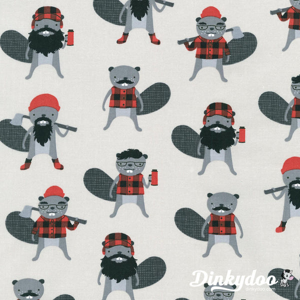 You'll want these Burly Beavers on your next camping quilt!