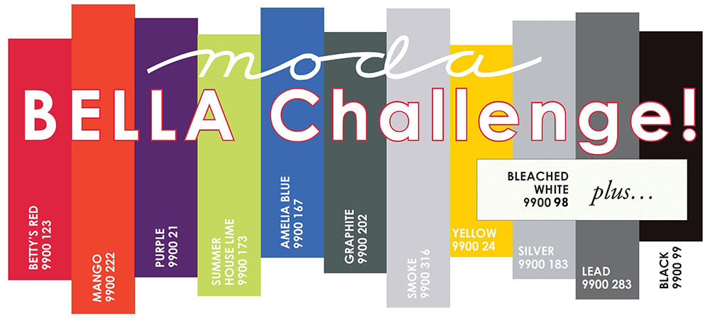 Got a minute? You're going to love Moda's new Bella Solids Challenge!