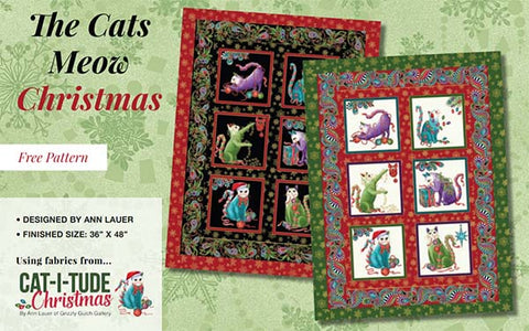 cat-i-tude christmas free pattern