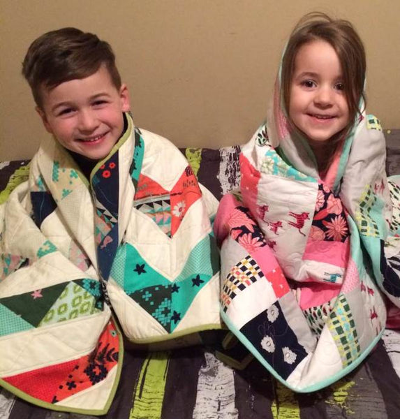 niece and nephew finished quilts