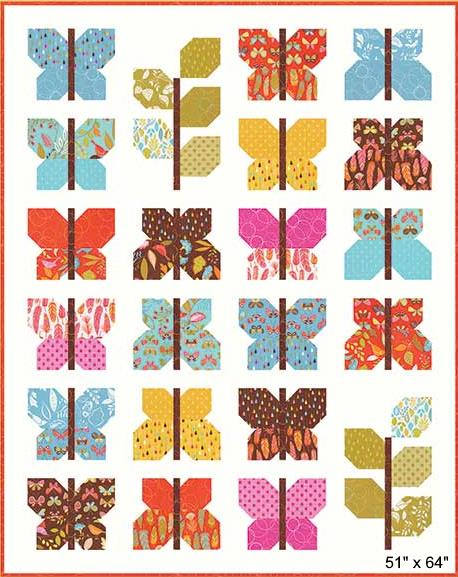 wing and leaf quilt pattern