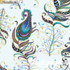 Peacock Flourish - Floating Feather Lt. Teal - Anne Lauer - Benartex (Pre-order: April 2021)