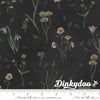 Botanicals - Wildflowers in Charcoal - Janet Clare - Moda (Pre-order: Mar 2021)