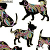 Dog On It - Hot Diggity Large White/Multi Metallic - Benartex