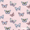 Totally Tulips - Butterfly Wave Light/Pink - Benartex