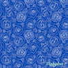 Mosaic - Rose Outlines in True Blue - Andover Fabrics
