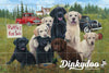Puppies for Sale - Pups and Trucks Panel DP24250-74 - Northcott (Pre-order: July 2021)