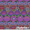 Kaffe Fassett Collective Fall 2021 - Embroidered Flower in Purple - Free Spirit (Pre-order: Oct 2021)