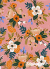 Amalfi - Lively Floral Coral (Rayon) - Rifle Paper Co - Cotton + Steel (Pre-order: Mar 2018)