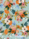 Amalfi - Lively Floral Mint (Rayon) - Rifle Paper Co - Cotton + Steel (Pre-order: May 2018)