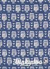 Firelight - Hooties Blue - Alexia Marcelle Abegg - Cotton + Steel