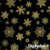 Cat-I-Tude Christmas - Playful Flakes Black (6747M-12) Benartex